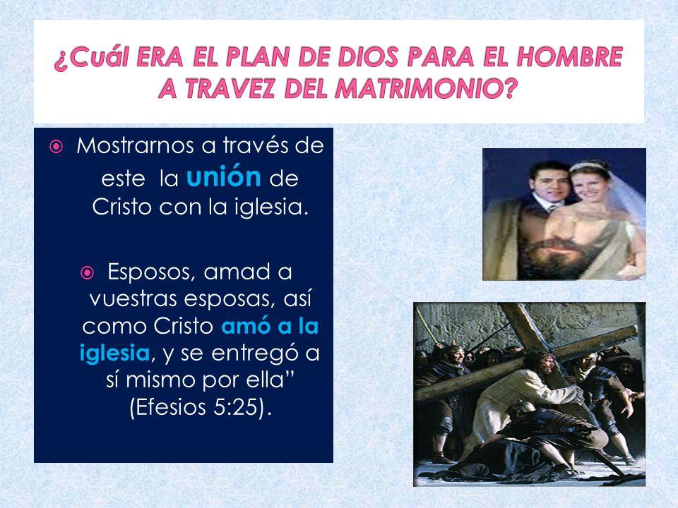 ¿Cuál ERA EL PLAN DE DIOS PARA EL HOMBRE A TRAVEZ DEL MATRIMONIO