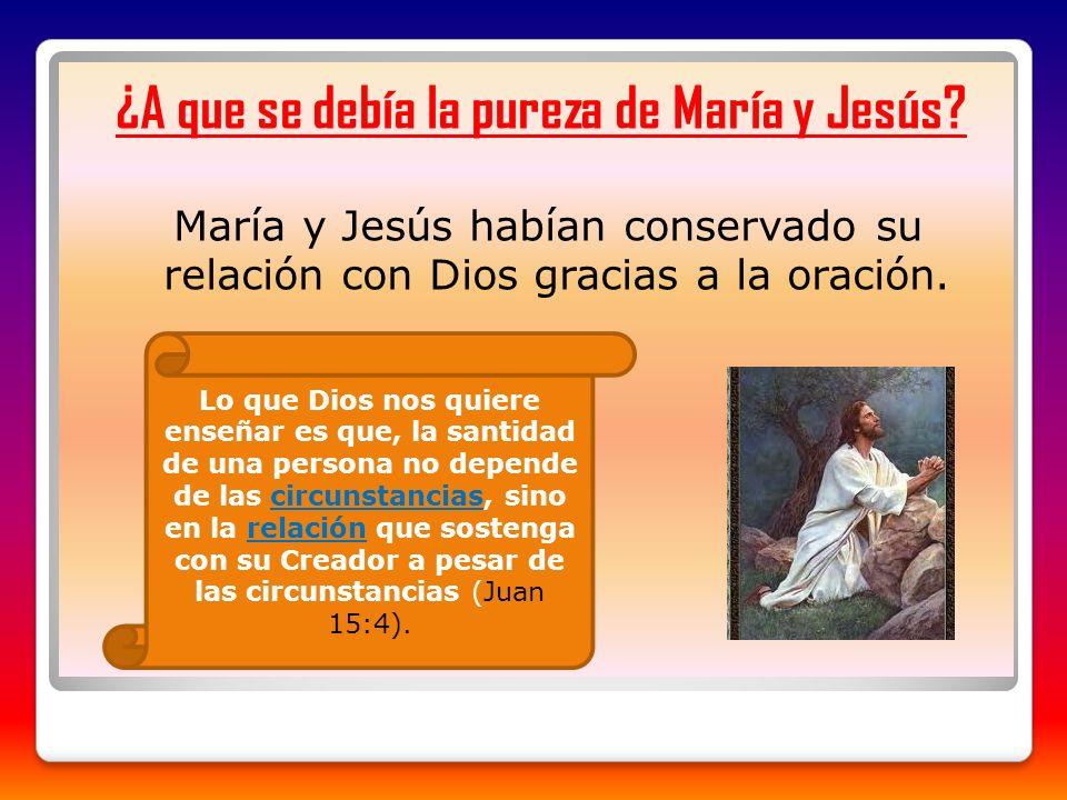 ¿A que se debía la pureza de María y Jesús