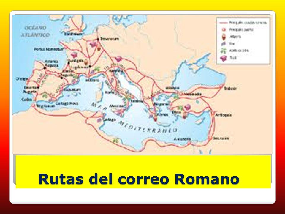 Rutas del correo Romano