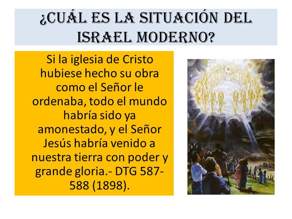 ¿Cuál es la situación del Israel moderno