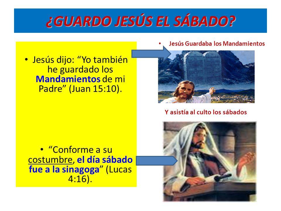 ¿GUARDO JESÚS EL SÁBADO