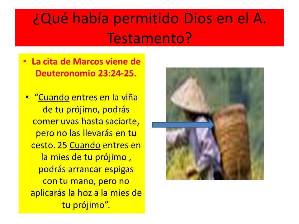 ¿Qué había permitido Dios en el A. Testamento