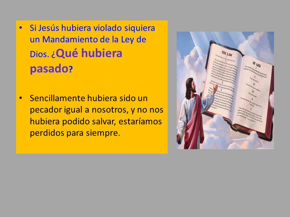 Si Jesús hubiera violado siquiera un Mandamiento de la Ley de Dios