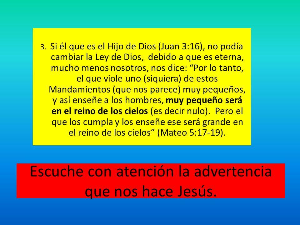 Escuche con atención la advertencia que nos hace Jesús.