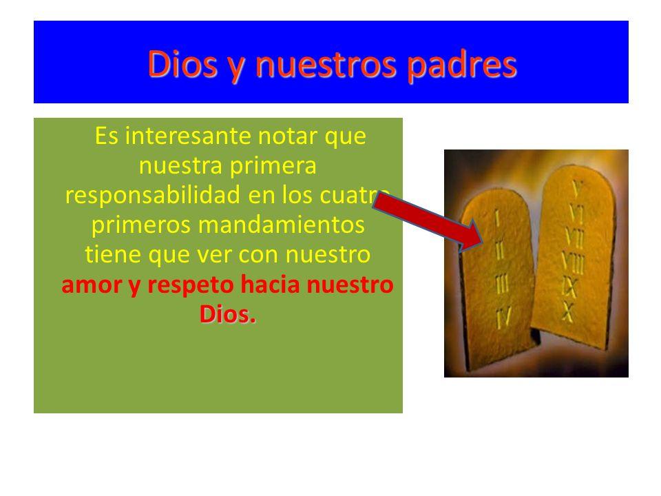 Dios y nuestros padres