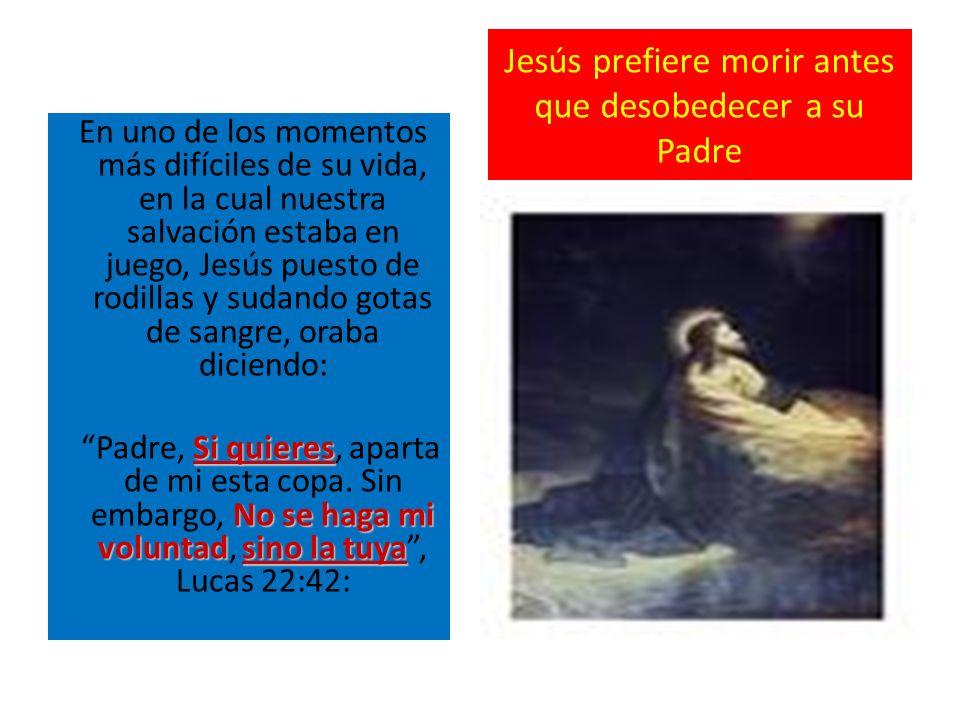 Jesús prefiere morir antes que desobedecer a su Padre