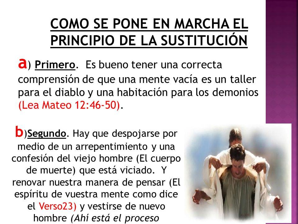 COMO SE PONE EN MARCHA EL PRINCIPIO DE LA SUSTITUCIÓN