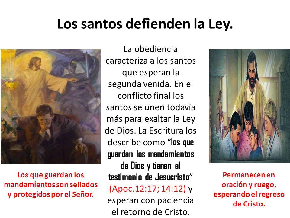 Los santos defienden la Ley.