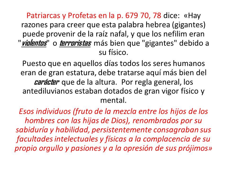 Patriarcas y Profetas en la p