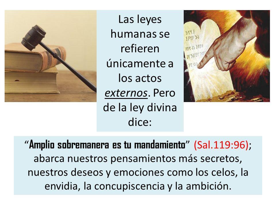Las leyes humanas se refieren únicamente a los actos externos