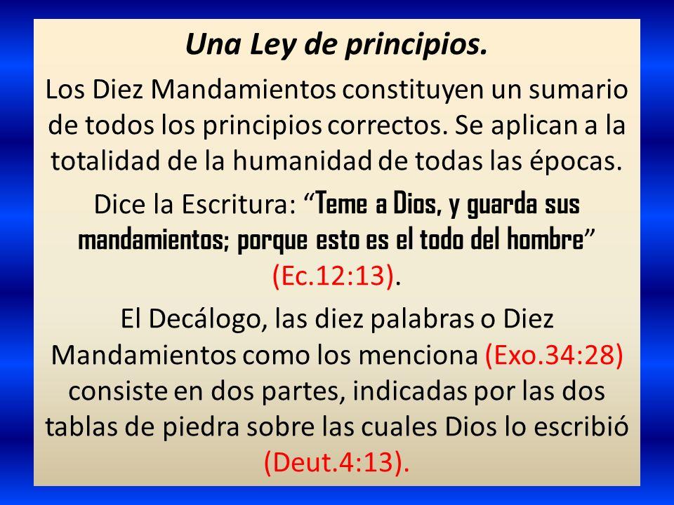Una Ley de principios.