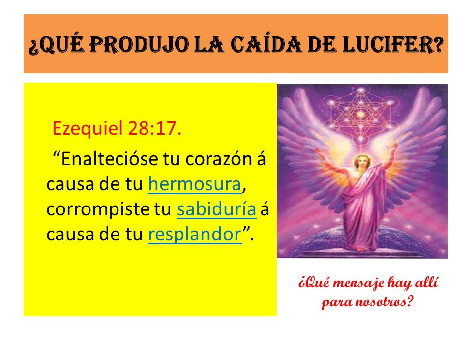 ¿Qué produjo la caída de Lucifer