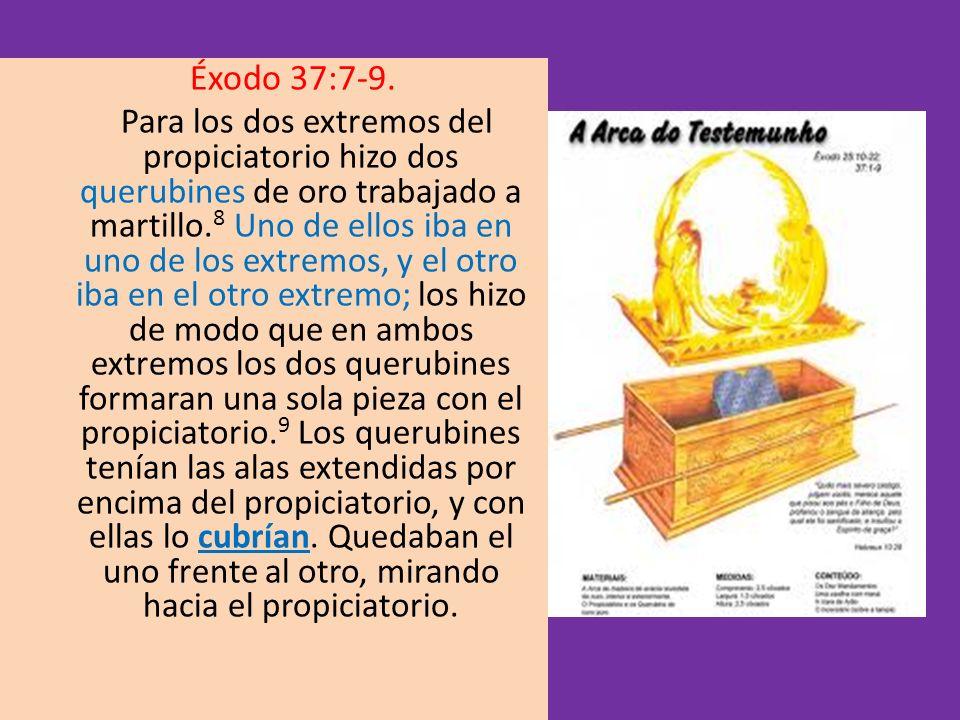 Éxodo 37:7-9.