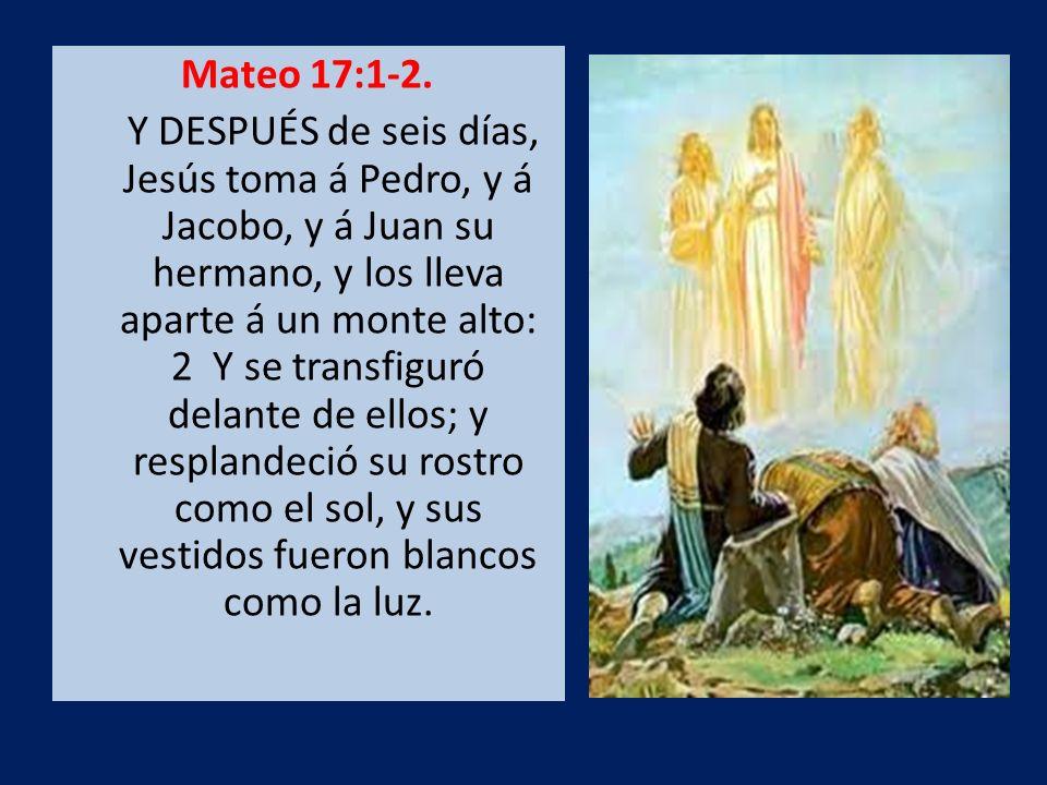 Mateo 17:1-2.