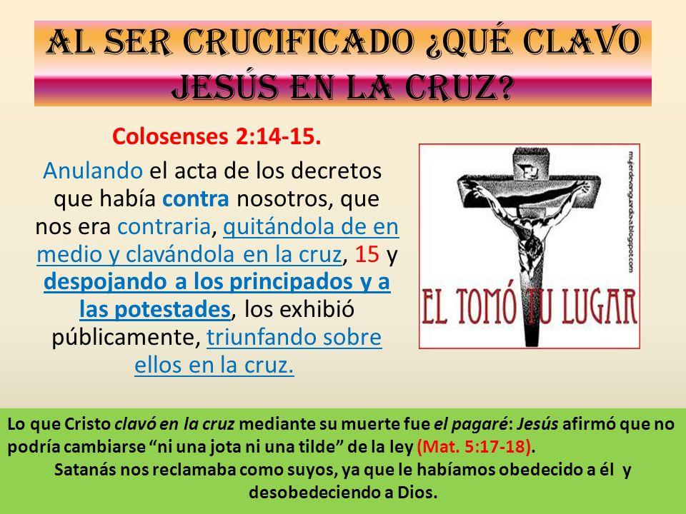 Al ser crucificado ¿Qué clavo Jesús en la cruz