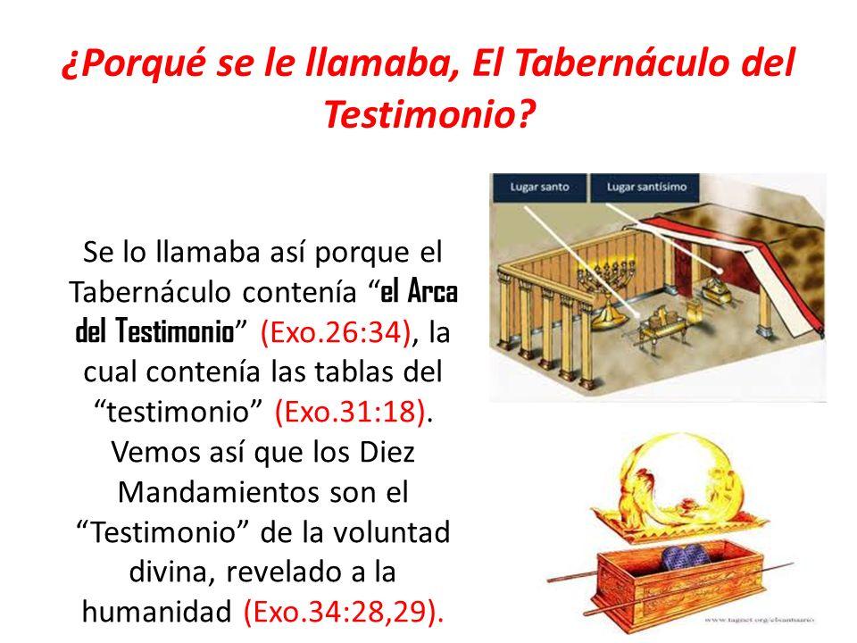 ¿Porqué se le llamaba, El Tabernáculo del Testimonio