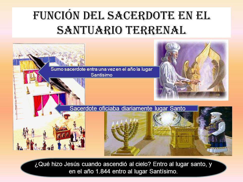 Función del sacerdote en el santuario terrenal