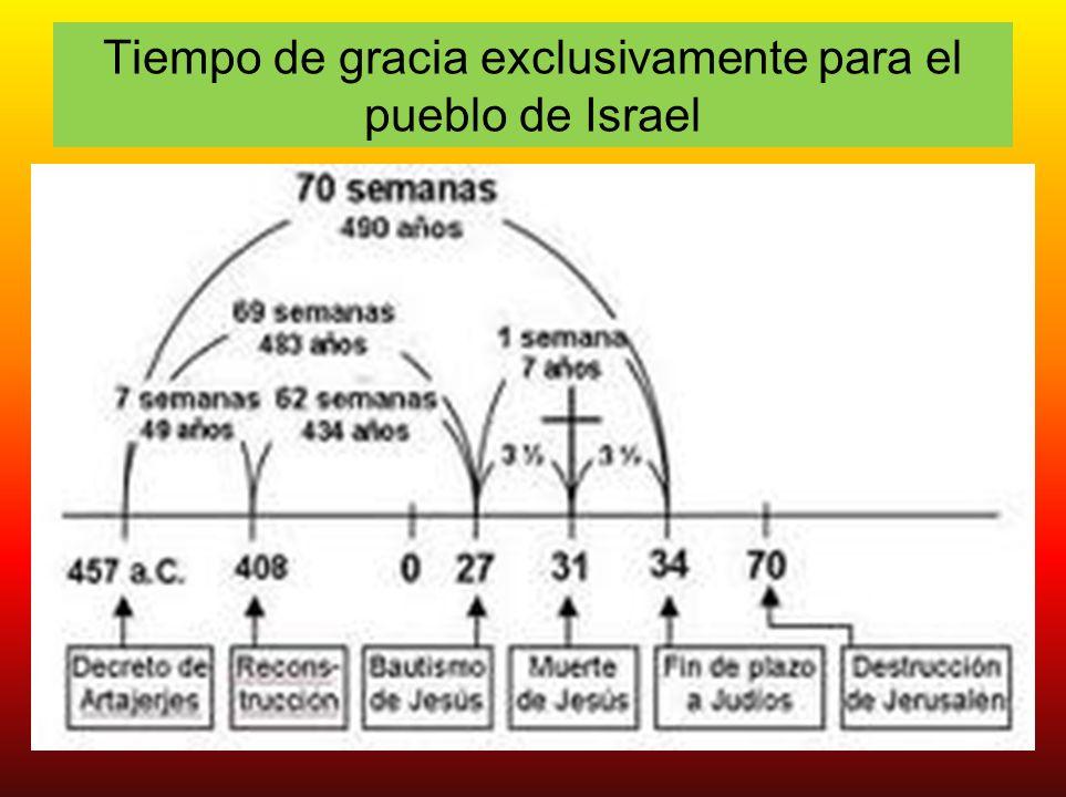 Tiempo de gracia exclusivamente para el pueblo de Israel