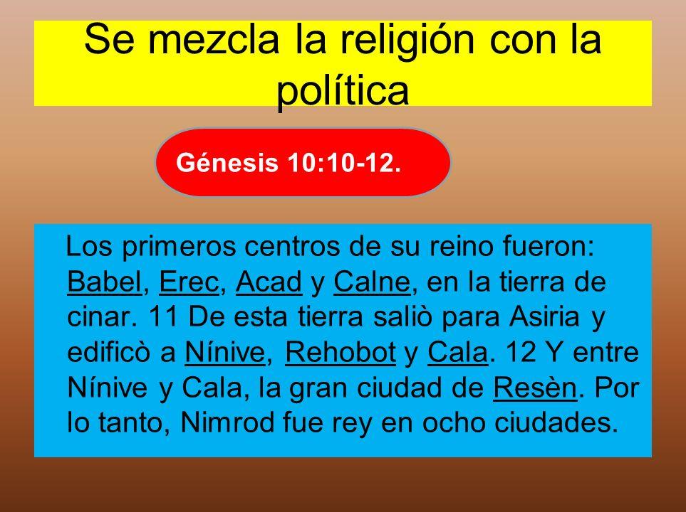 Se mezcla la religión con la política