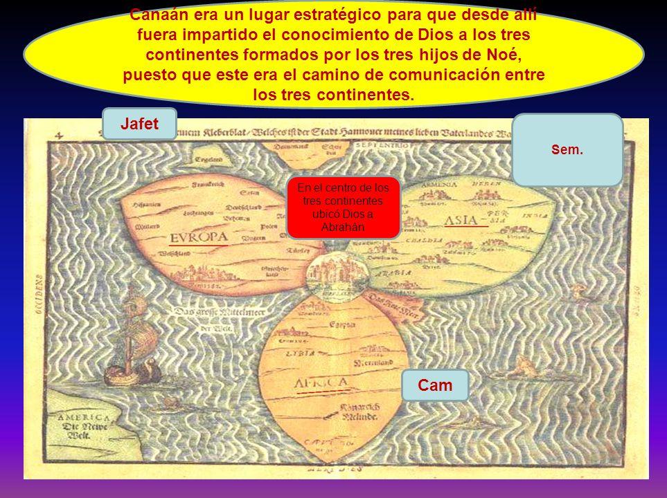 En el centro de los tres continentes ubicó Dios a Abrahán