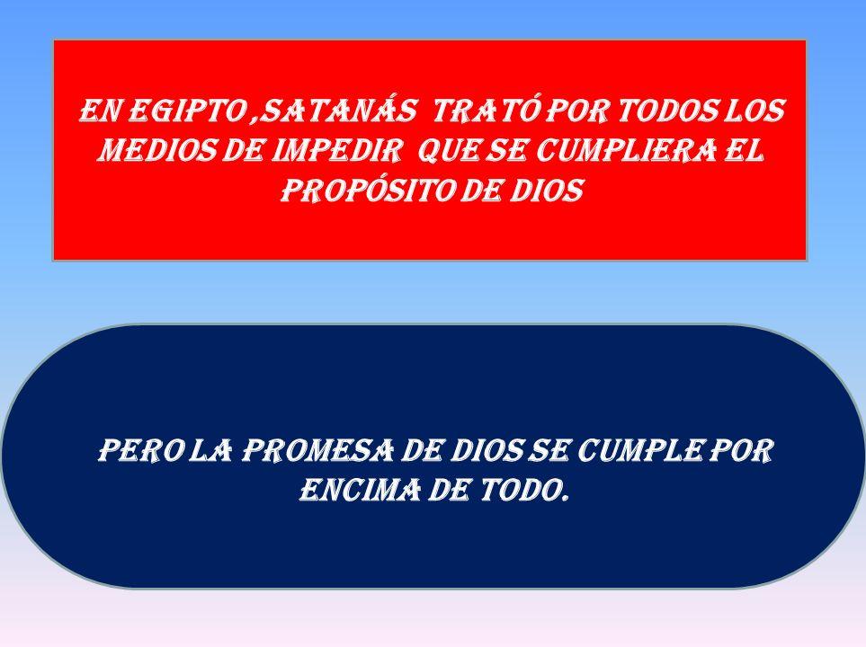 Pero La promesa de Dios se cumple por encima de todo.