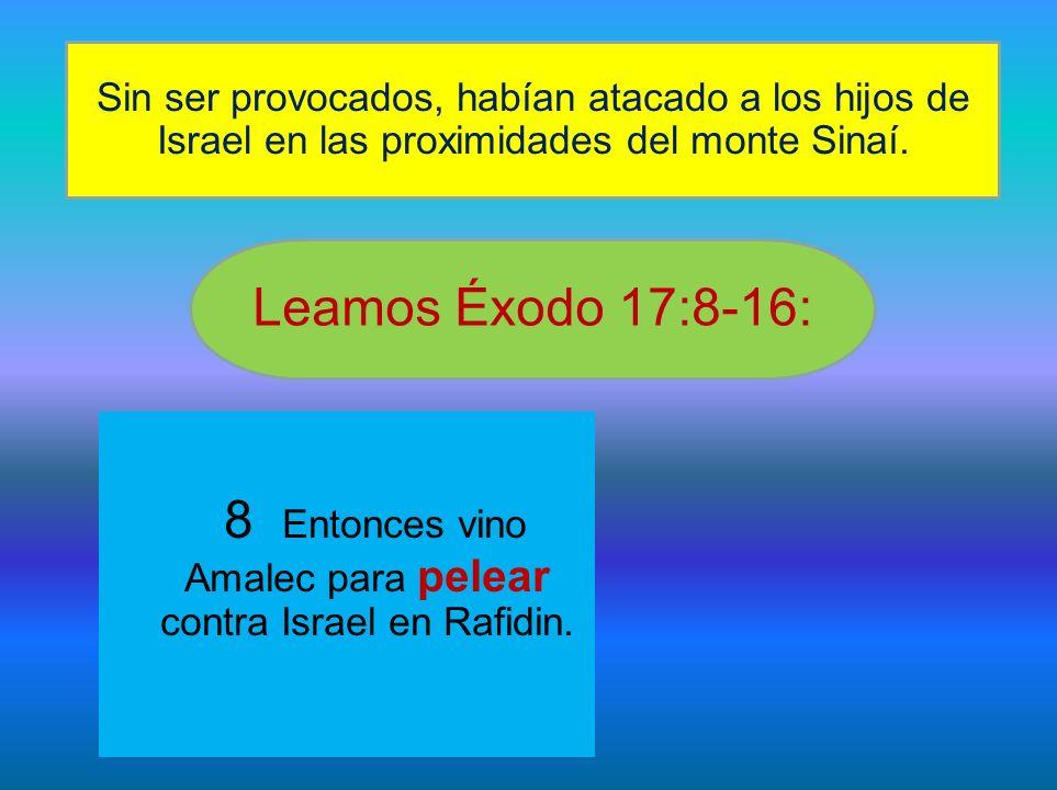 8 Entonces vino Amalec para pelear contra Israel en Rafidin.