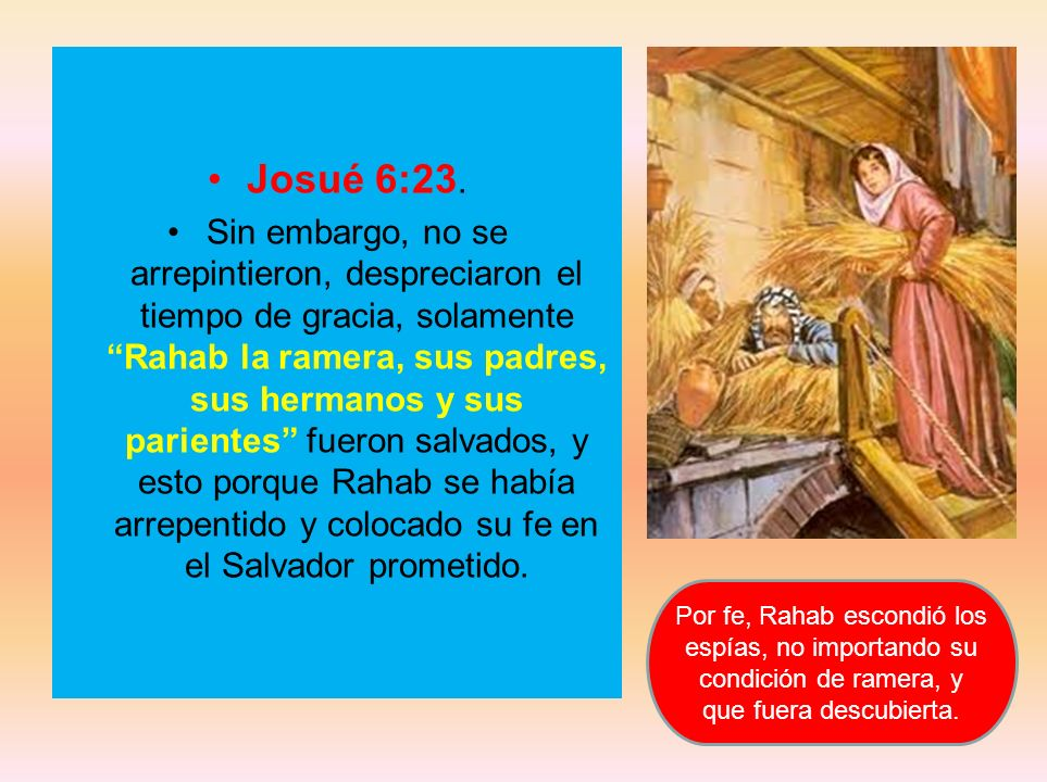 Josué 6:23.
