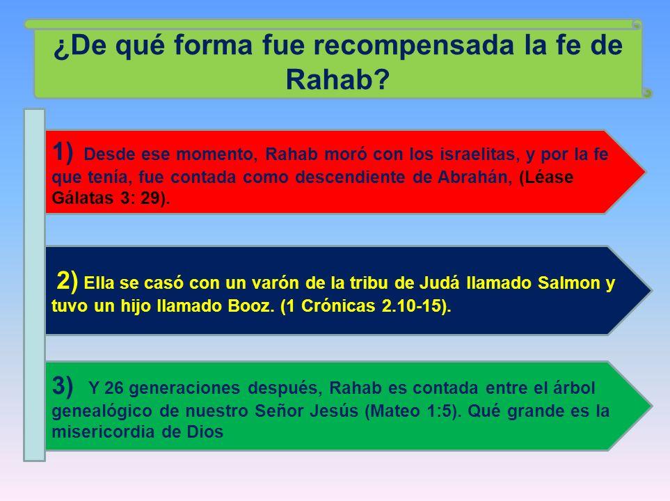 ¿De qué forma fue recompensada la fe de Rahab