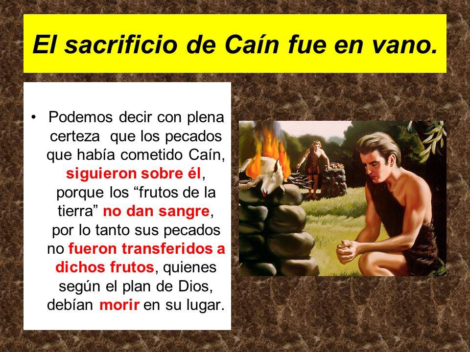 El sacrificio de Caín fue en vano.