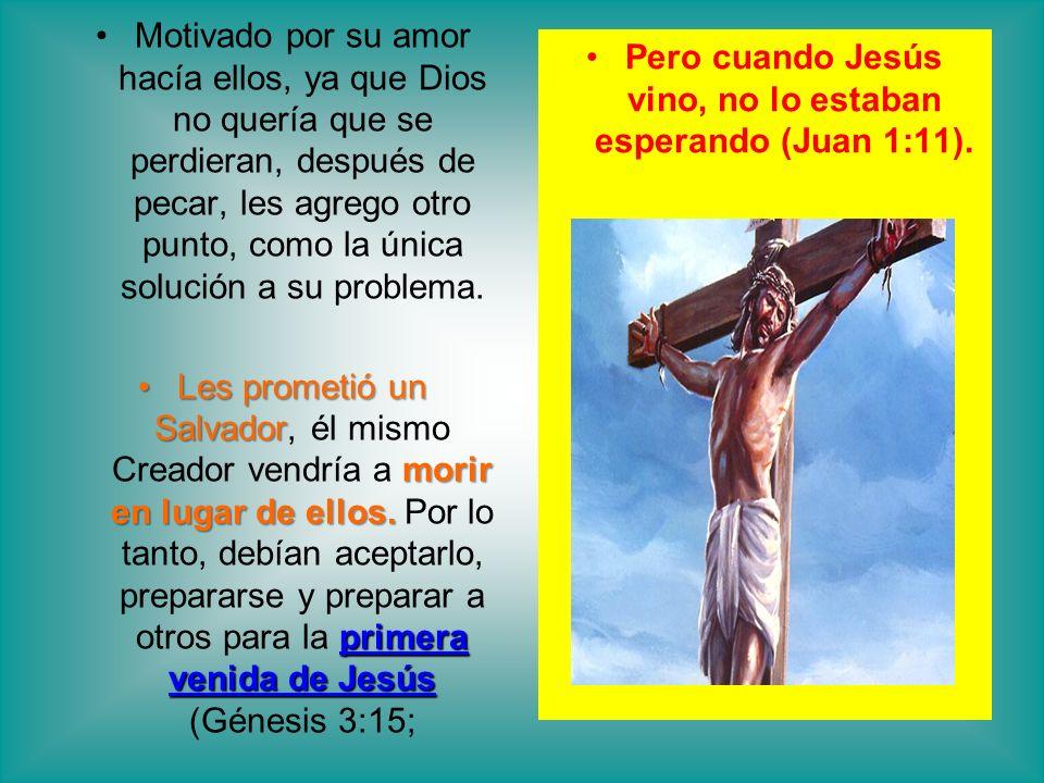 Pero cuando Jesús vino, no lo estaban esperando (Juan 1:11).