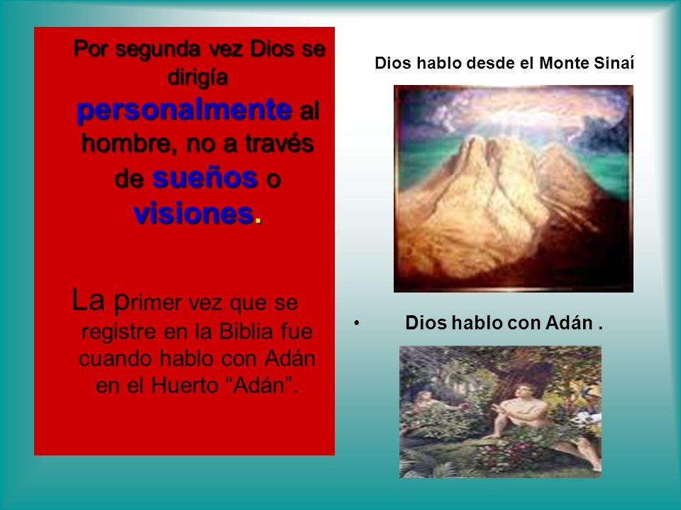 Dios hablo desde el Monte Sinaí