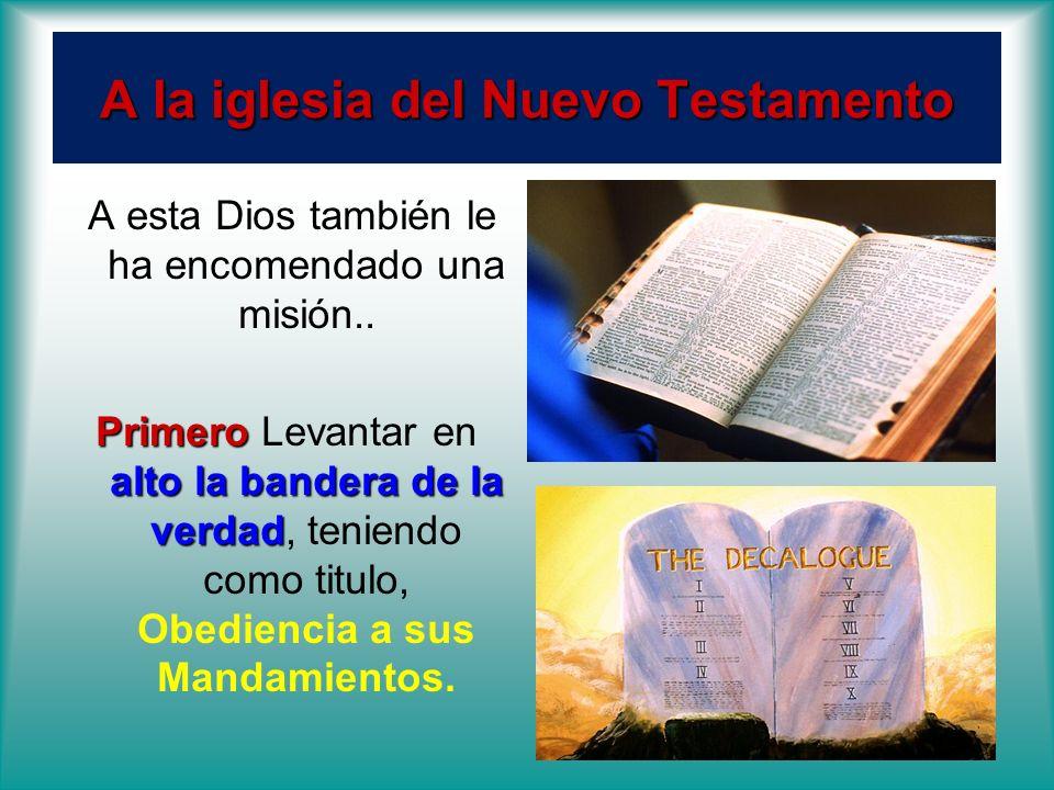 A la iglesia del Nuevo Testamento