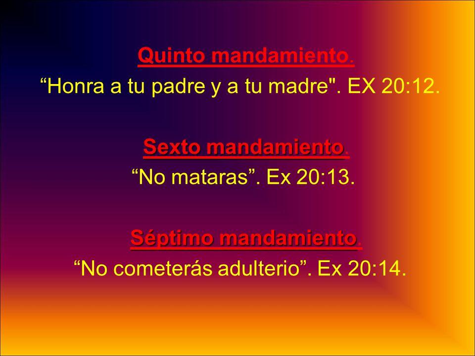 Honra a tu padre y a tu madre . EX 20:12. Sexto mandamiento.