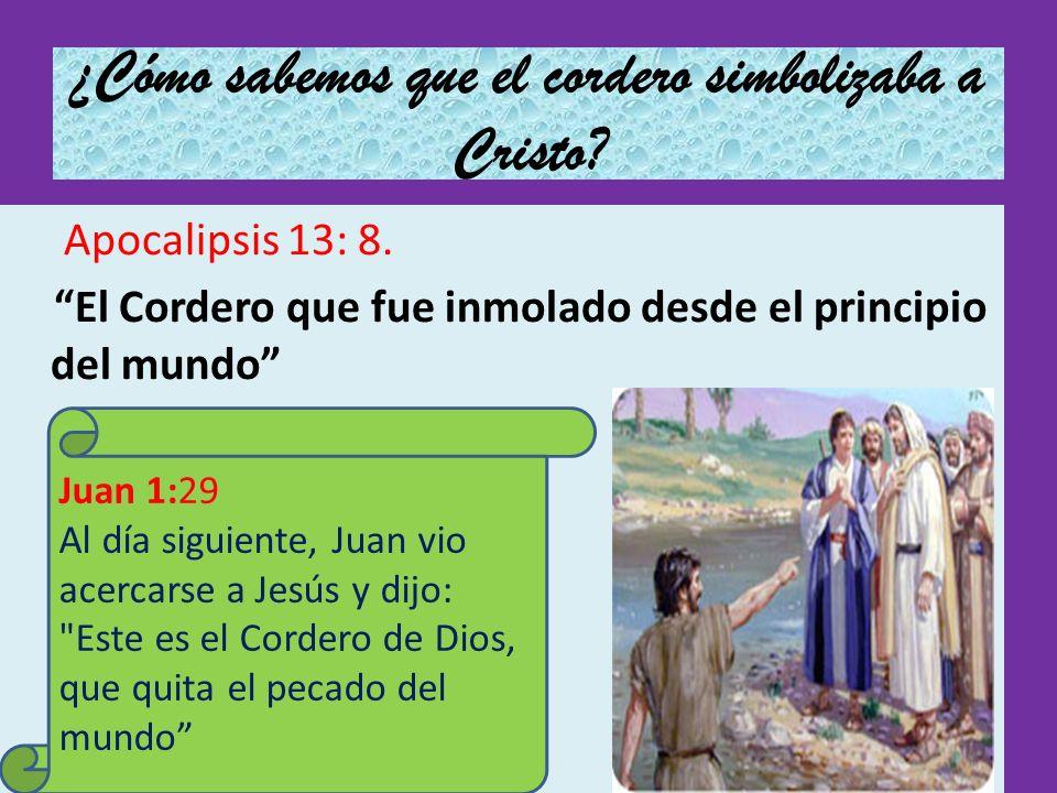¿Cómo sabemos que el cordero simbolizaba a Cristo