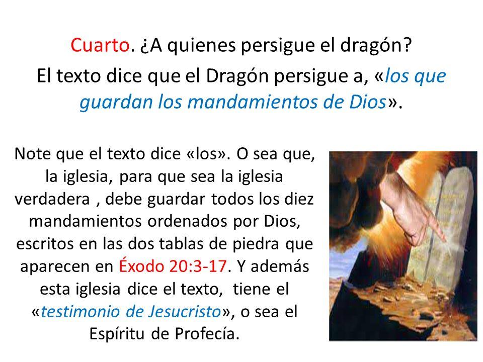 Cuarto. ¿A quienes persigue el dragón