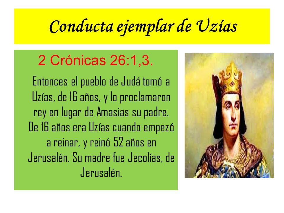 Conducta ejemplar de Uzías