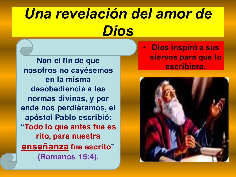 Una revelación del amor de Dios