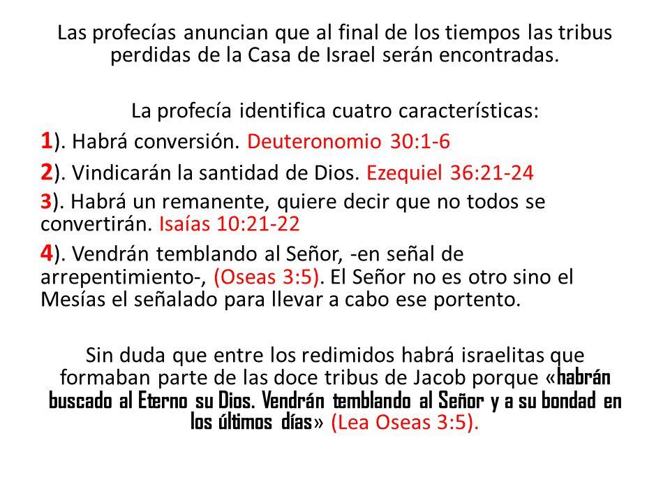 La profecía identifica cuatro características:
