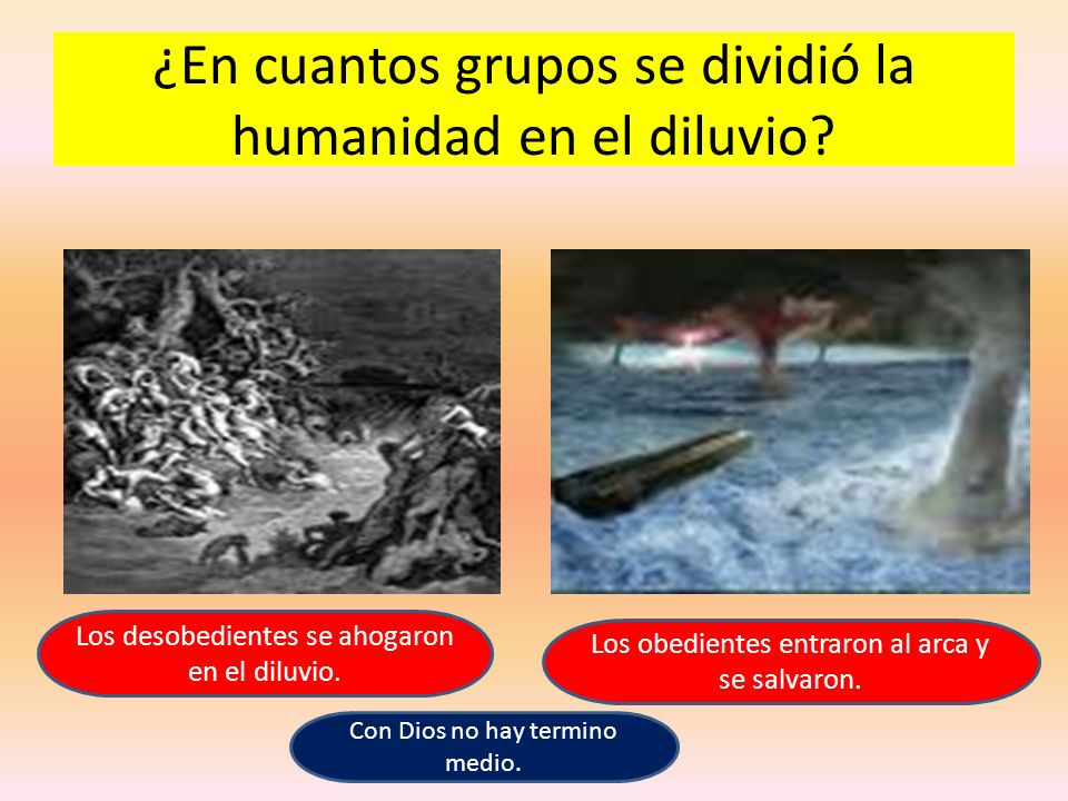 ¿En cuantos grupos se dividió la humanidad en el diluvio