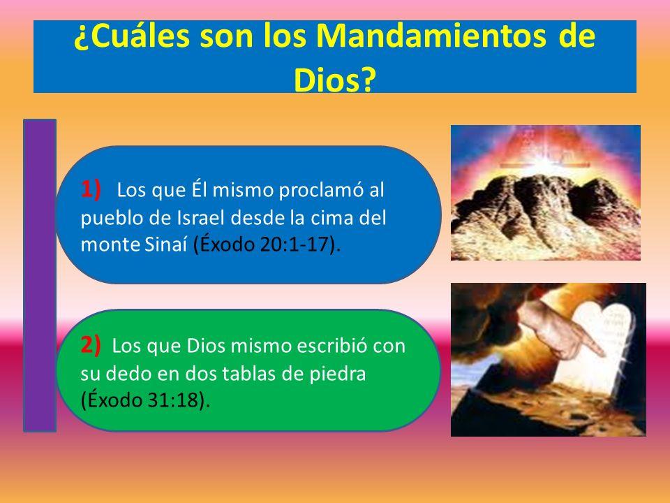 ¿Cuáles son los Mandamientos de Dios