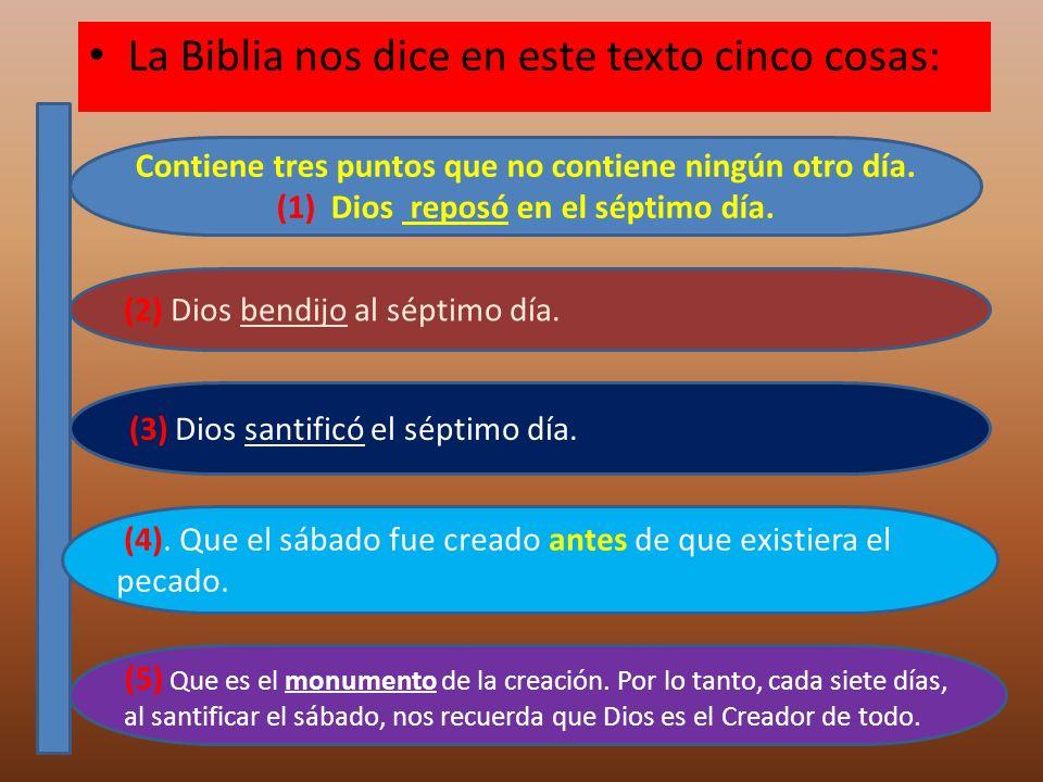 La Biblia nos dice en este texto cinco cosas: