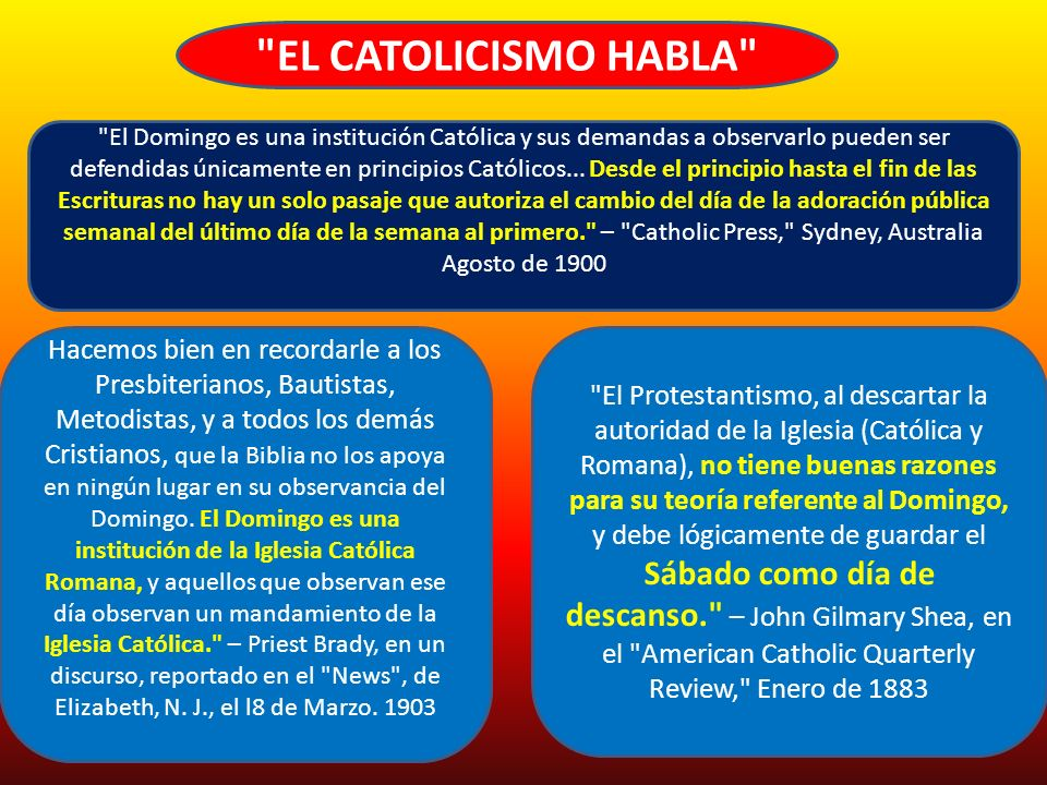 EL CATOLICISMO HABLA