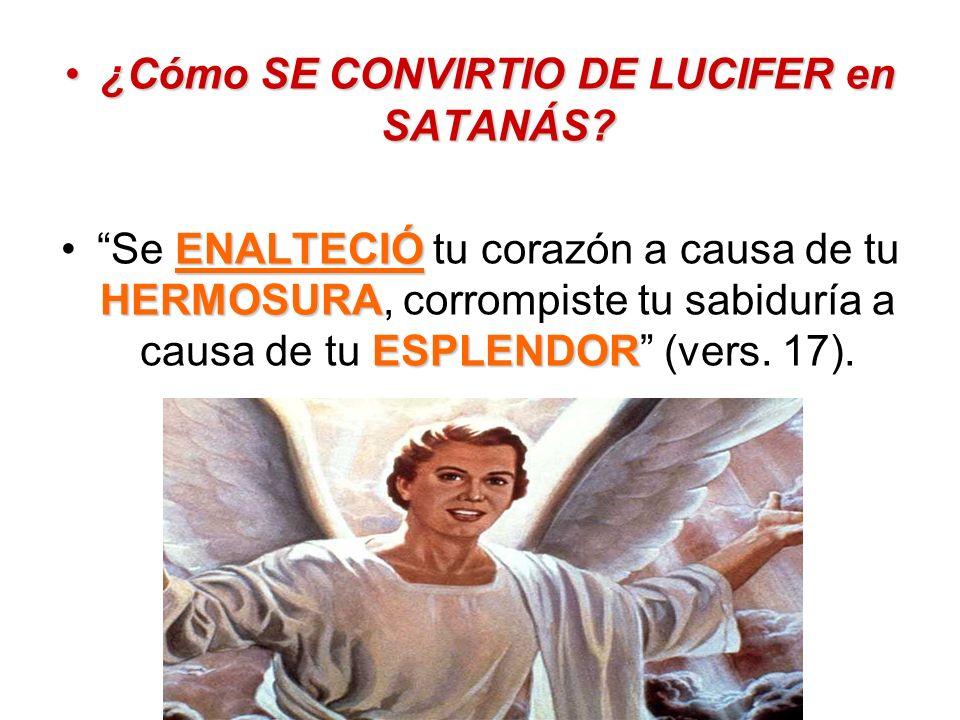 ¿Cómo SE CONVIRTIO DE LUCIFER en SATANÁS