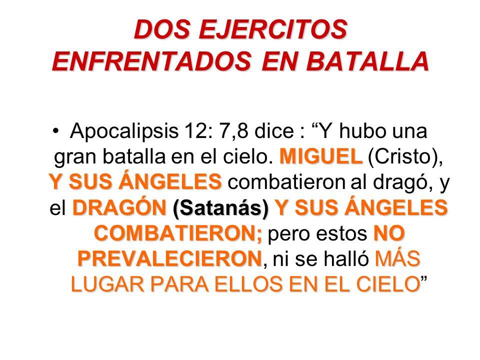 DOS EJERCITOS ENFRENTADOS EN BATALLA