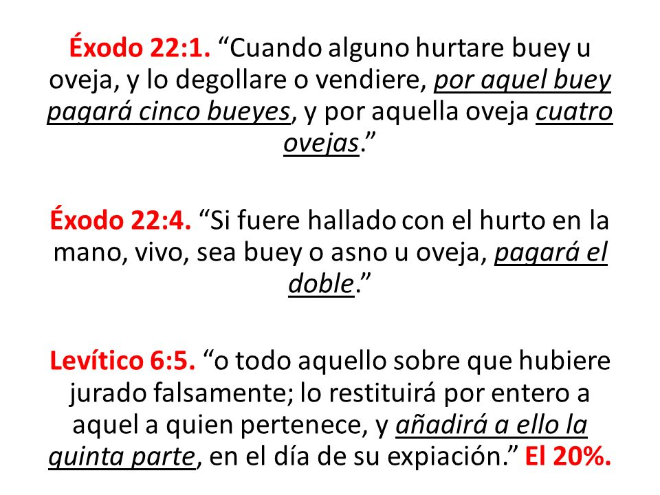 Éxodo 22:1.