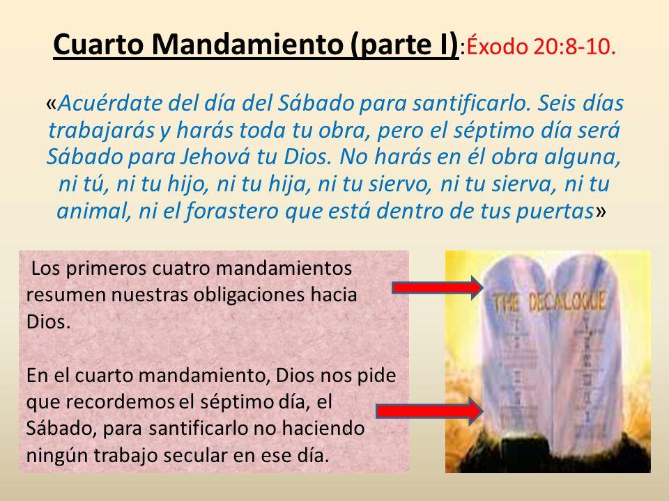 Cuarto Mandamiento (parte I):Éxodo 20:8-10