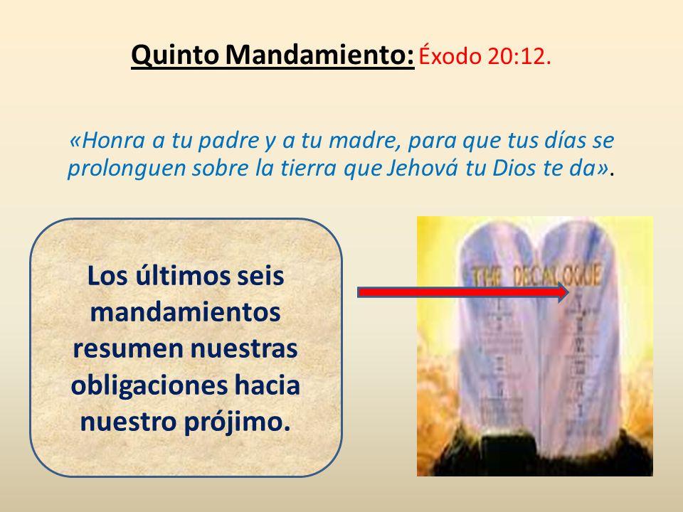 Quinto Mandamiento: Éxodo 20:12