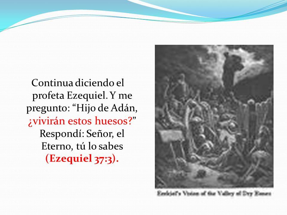 Continua diciendo el profeta Ezequiel