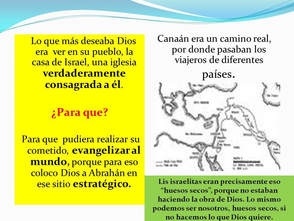 Canaán era un camino real, por donde pasaban los viajeros de diferentes países.