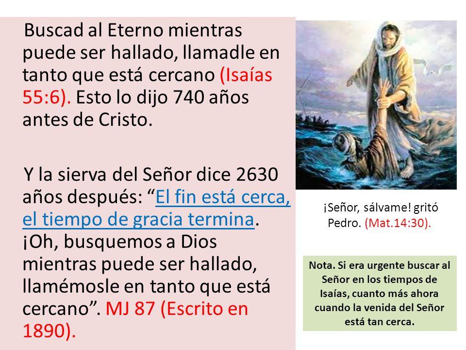 ¡Señor, sálvame! gritó Pedro. (Mat.14:30).